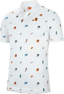 Поло мужское Nike Court Veneer Slim White  CI9156-100  fa20