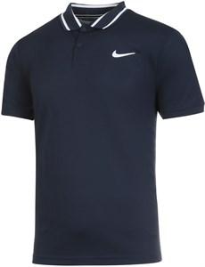 Поло мужское Nike Court Dry Victory Obsidian/White  CW6848-451  sp21