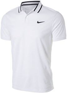 Поло мужское Nike Court Dry Victory White/Black  CW6848-100  sp21