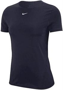 Футболка женская Nike Pro Short Sleeve Obsidian/White  AO9951-451  sp21
