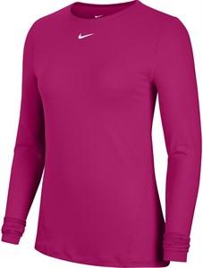 Футболка женская Nike Pro Mesh Fireberry/White  AO9949-615  sp21