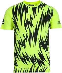 Футболка мужская Hydrogen Scratch Tech Fluo Yellow/Black  T00414-724