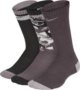 Носки Nike Youth Everyday Cushioned Crew (3 Pairs) Black Camo  SX6383-923