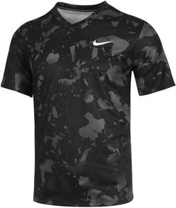 Футболка мужская Nike Court Victory Printed Crew Black/White  CV3135-013  sp21