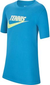 Футболка для мальчиков Nike Court Graphic Neo Turquoise/White/Black  CW1538-425  fa20