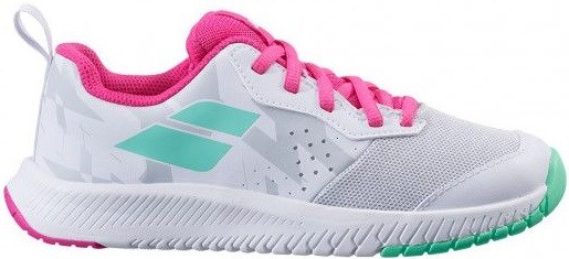 Кроссовки детские Babolat Pulsion All Court White/Red Rose  32/33S21482-1058