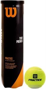 Мячи теннисные Wilson Tour Premier Practice 4 Balls  WRT114500