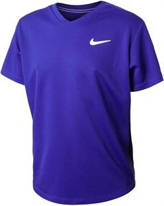 Футболка для мальчиков Nike Court Dry Victory Concord/Black/White  CV7565-471  sp21