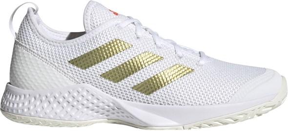 Кроссовки женские Adidas Court Control Cloud White/Gold Metallic/Solar Red  H00942  fa21