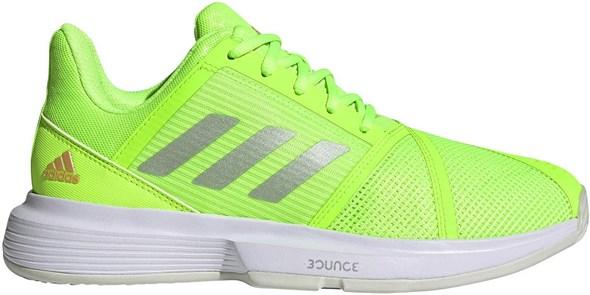 Кроссовки женские Adidas Courtjam Bounce Signal Green/Silver Metallic/Cloud White  H69194  fa21