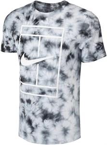 Футболка мужская Nike Court Heritage Tie-Dye White/Black  DD2238-100  su21